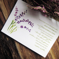 Stationery, purple, green, invitation, Garden Wedding Invitations, Invitations, Wedding, Lavender, Shower, Painted, Tickled ink
