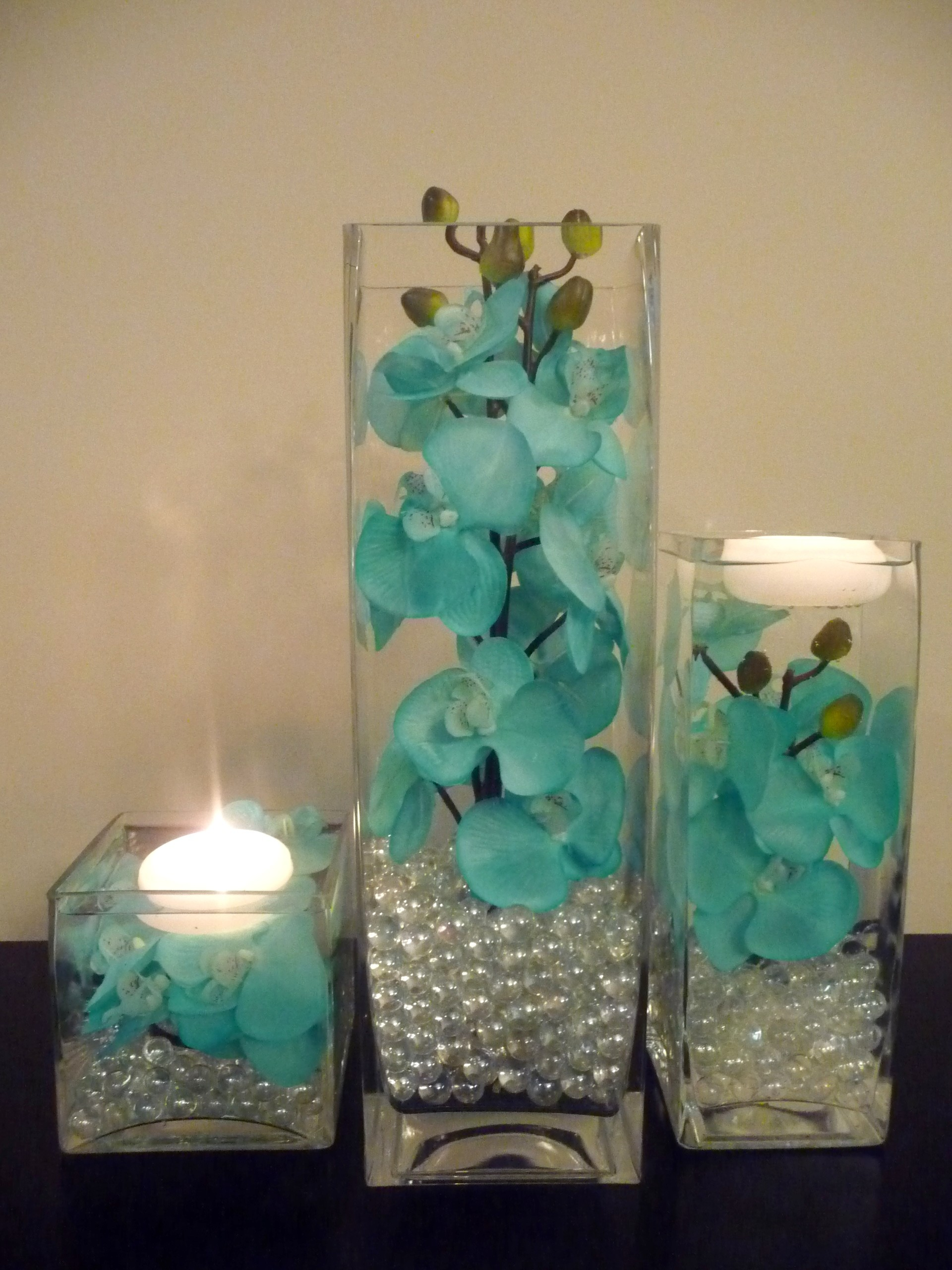 Blue Orchid Flower Centerpieces