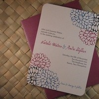 Flowers & Decor, Stationery, pink, red, purple, blue, invitation, Invitations, Flowers, Wedding, The, Save, Date, Botanical, Mums, Invites, Chrysanthemums, Everlasting invites