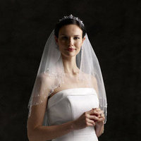 Veils, Fashion, ivory, Veil, David's Bridal, Tier, Fingertip, Two, 595, 2t