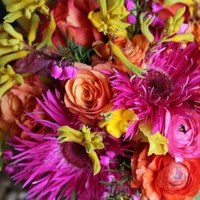 Flowers & Decor, yellow, orange, pink, green, Centerpieces, Flowers, Centerpiece, Fujikos flowers