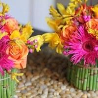 Flowers & Decor, yellow, orange, pink, green, Flowers, Fujikos flowers