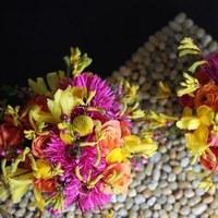 Flowers & Decor, yellow, orange, pink, green, Centerpieces, Flowers, Centerpiece, Fujikos flowers