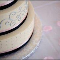 Reception, Flowers & Decor, Cakes, pink, black, cake, Bobbi roth wedding design