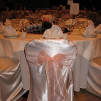 Ceremony, Reception, Flowers & Decor, ivory, pink, Peach, Chair, Cover, Satin, Pure elegance