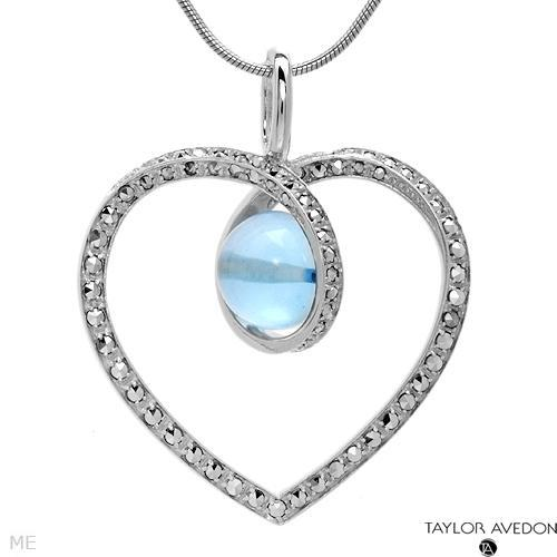 Jewelry, blue, Necklaces, Necklace, Heart, Topar