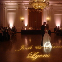 Reception, Flowers & Decor, Decor, pink, And, Name, Gobo, Lights, Steve burdick events
