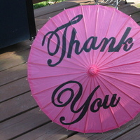 DIY, pink, black, Parasol, You, Thank