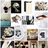 Inspiration, white, blue, black, Board