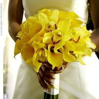 Inspiration, yellow, Bride, Bouquet, Calla, Board, Lillies