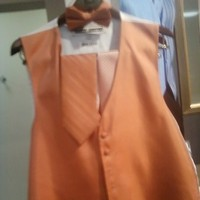 Ceremony, Flowers & Decor, Fashion, orange, Men's Formal Wear, Tie, Tuxedo, Vest, Junction