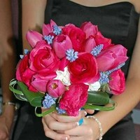 Flowers & Decor, pink, blue, Bride Bouquets, Flowers, Bouquet