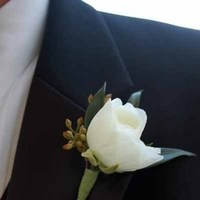Flowers & Decor, white, Boutonnieres, Flowers, Boutonniere
