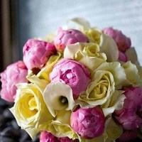 Flowers & Decor, white, ivory, pink, Bride Bouquets, Flowers, Bouquet