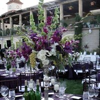 Ceremony, Flowers & Decor, purple, green, silver, Ceremony Flowers, Centerpieces, Flowers, Centerpiece