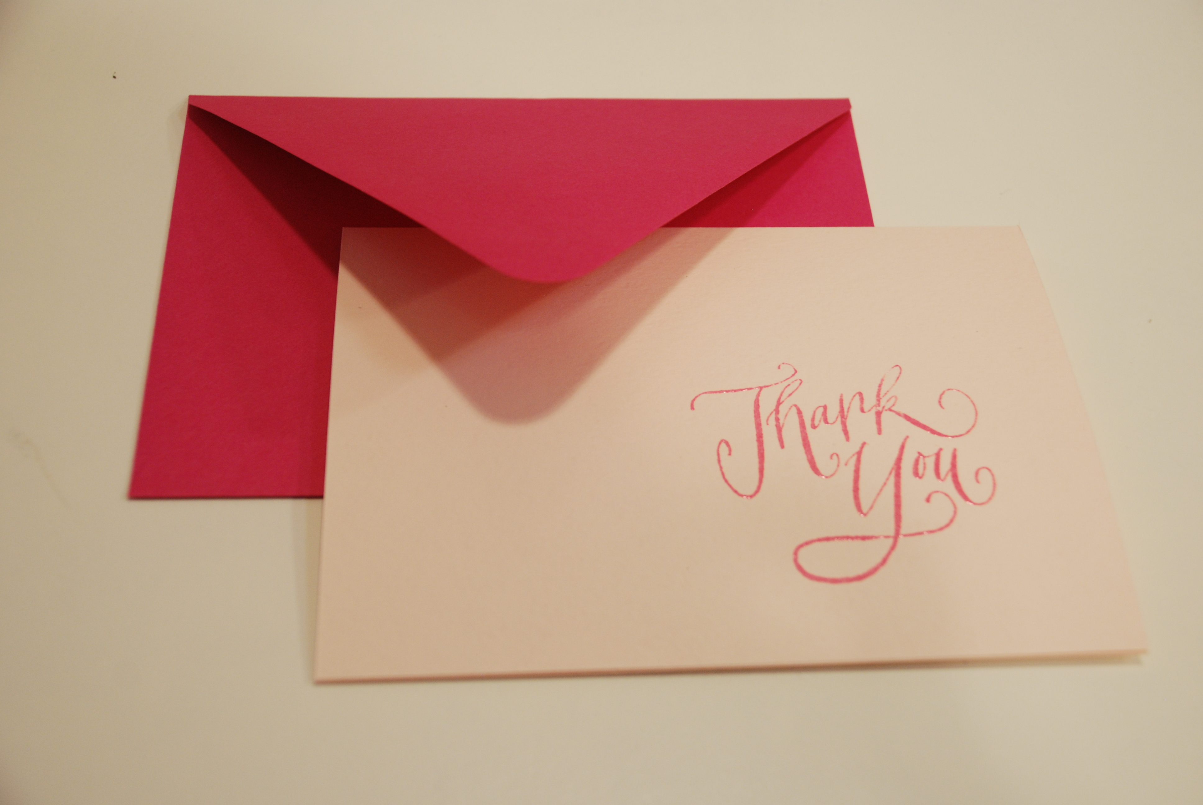 DIY, Stationery, pink, Thank You Notes, Thank you card