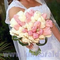 Flowers & Decor, white, pink, Bride Bouquets, Flowers, Bouquet, And, Tulips