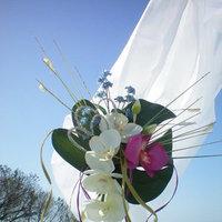 Ceremony, Reception, Flowers & Decor, white, pink, blue, green, Ceremony Flowers, Flowers