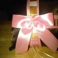Ceremony, Flowers & Decor, pink, brown, Pillow, Ringbearer