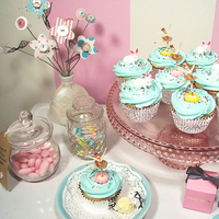 Inspiration, Reception, Flowers & Decor, Cakes, pink, purple, blue, cake, Board