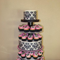 Inspiration, Reception, Flowers & Decor, Cakes, white, pink, red, black, cake, Flowers, Board