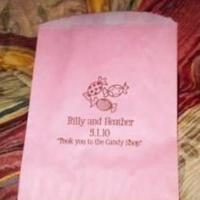 Reception, Flowers & Decor, Favors & Gifts, pink, brown, favor, Bags, Candy, Buffet, For