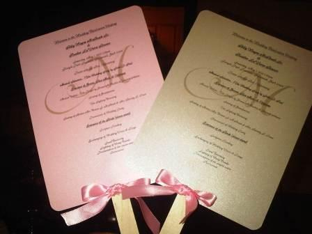 Ceremony, Flowers & Decor, pink, brown, gold, Wedding, Program