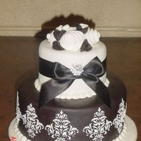 Inspiration, Reception, Flowers & Decor, Cakes, white, black, cake, Flowers, Board