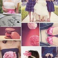 Inspiration, Flowers & Decor, Bridesmaids, Bridesmaids Dresses, Wedding Dresses, Cakes, Fashion, pink, blue, cake, dress, Bridesmaid Bouquets, Flowers, Board, Flower Wedding Dresses