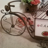 Reception, Flowers & Decor, white, yellow, orange, red, green, black, Vintage, Cards, Cardbox, Motorcycle, Bicycle, Tricycle