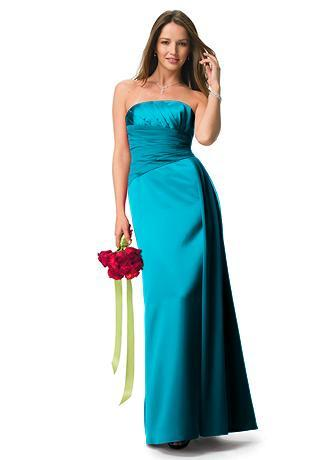 Bridesmaids, Bridesmaids Dresses, Wedding Dresses, Fashion, blue, green, dress, Bridal, Teal, Strapless, Strapless Wedding Dresses, Davids