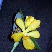Flowers & Decor, yellow, Boutonnieres, Flowers, Orchid, Boutonniere