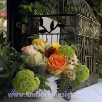 Flowers & Decor, white, yellow, orange, green, Centerpieces, Garden, Flowers, Garden Wedding Flowers & Decor, Centerpiece, Style