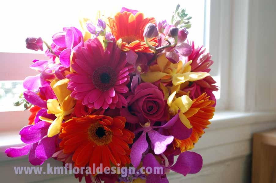 Flowers & Decor, yellow, orange, pink, purple, Bride Bouquets, Flowers, Bouquet, Bridal, Colorful