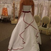 Ceremony, Reception, Flowers & Decor, Wedding Dresses, Fashion, white, red, dress, Bridal, Strapless, Strapless Wedding Dresses, Davids