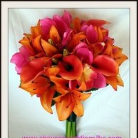 Flowers & Decor, orange, pink, purple, Flowers