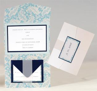 Stationery, white, blue, brown, Invitations