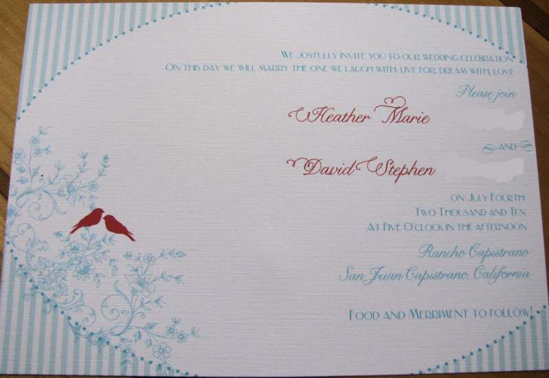 Stationery, red, blue, Invitations