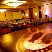 Reception, Flowers & Decor, Dance, Monogram, Floor, Silhouette