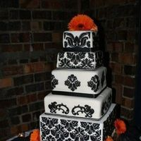 Cakes, white, black, cake, Damask, Claytonandshauna