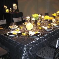 Flowers & Decor, Decor, green, black, Table, Damask