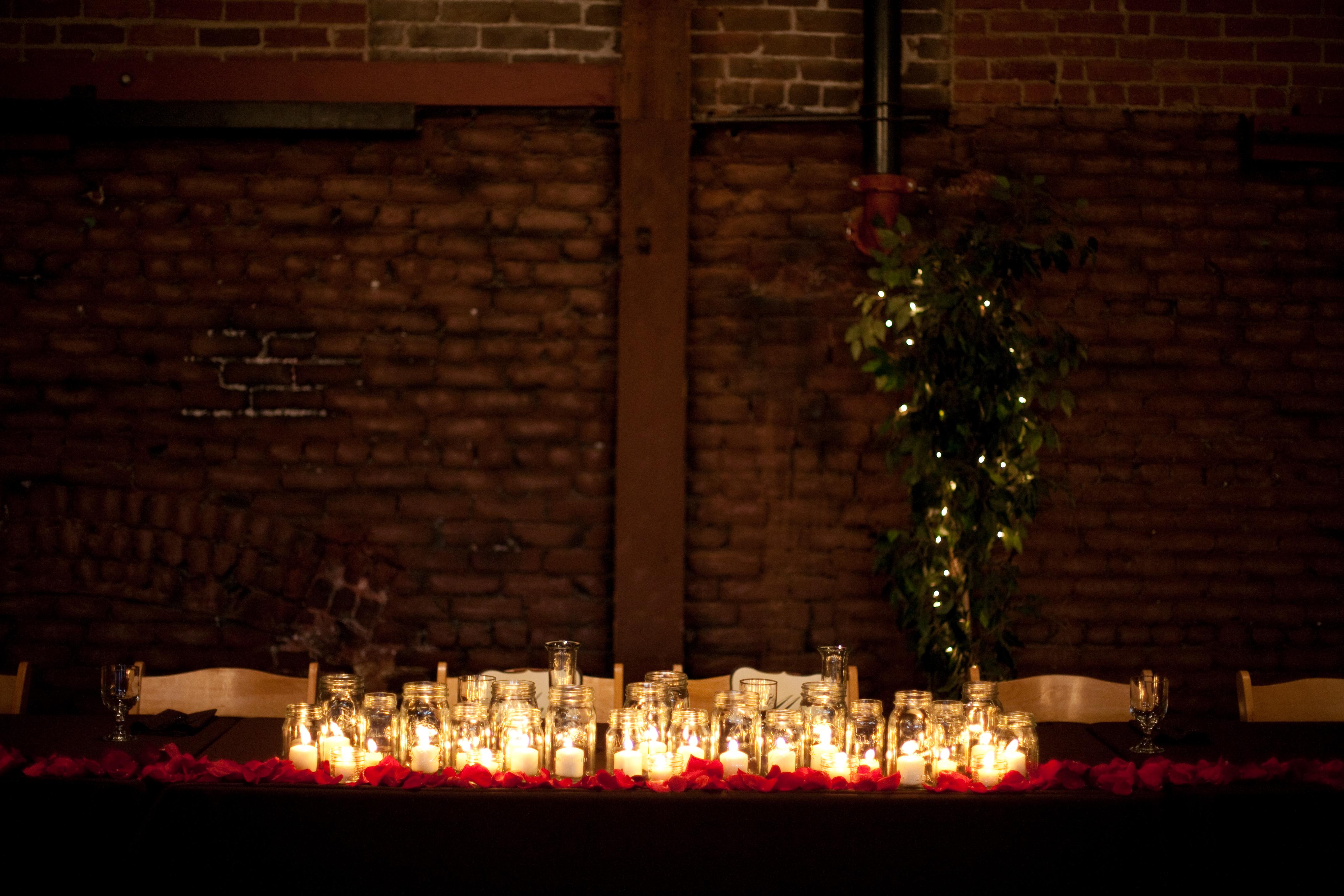 Reception, Flowers & Decor, Candles, Jars, Mason