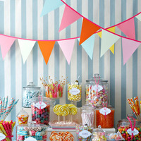 Reception, Flowers & Decor, pink, blue, Candy, Buffet