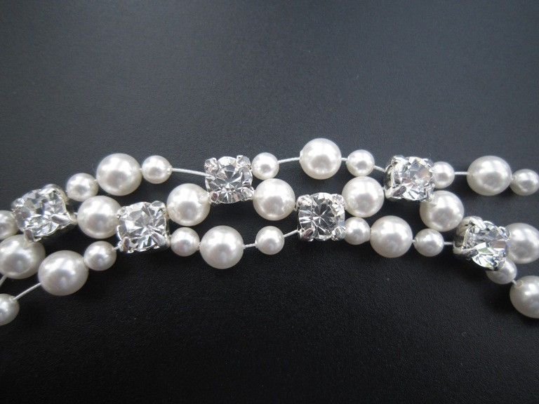 Jewelry, Bridesmaids, Bridesmaids Dresses, Fashion, white, silver, Bracelets, Bridal, Crystal, Bracelet, Swarovski, Floating, Pearl, Etsy, Cuff, Handcrafted, Europeanbride