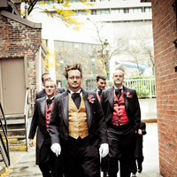 Fashion, red, black, gold, Men's Formal Wear, Groom, Tuxedo, Victorian