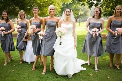 Bridesmaids, Bridesmaids Dresses, Fashion, gray