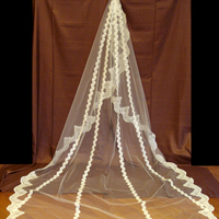 Veils, Lace Wedding Dresses, Fashion, ivory, Veil, Lace, Cathedral, Mantilla