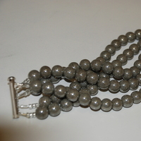 DIY, Jewelry, Bracelets, Vintage, Grey, Bracelet, Pearl, Glass beads