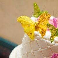 Cakes, yellow, pink, green, cake