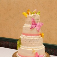 Cakes, yellow, pink, green, cake